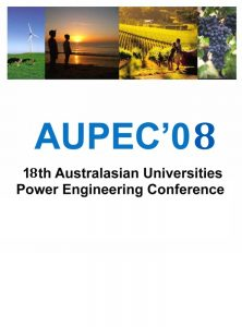 Australasian Universities Power Engineering Conference 2008